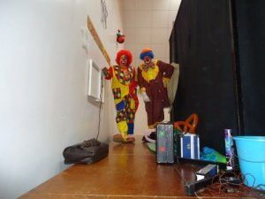 Les Magic Clowns en coulisses
