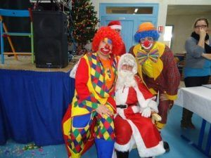 Les magic clowns et le père Noël ' Magiclown '