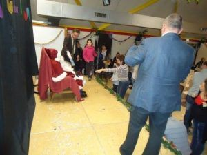 Le père Noël sur la scène