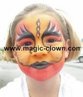 maquillage flammes