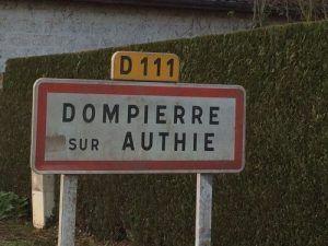 Arrivée dans la ville de Dompierre sur Authie (somme 80)