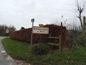 Arrivée à Bienvillers au Bois
