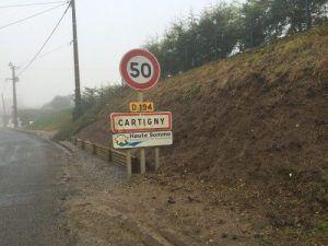 Arrivée dans la ville de Cartigny (somme 80)