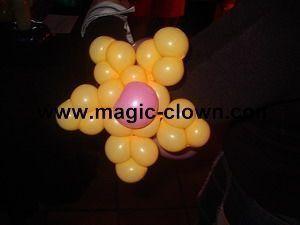 Sculpture de ballons pour décoration salle