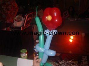 Sculpture sur ballons en forme de fleure à offrir !