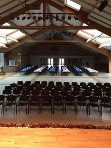 La salle prête pour le spectacle