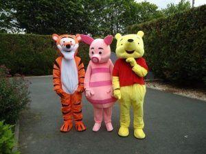 Les peluches Tigrou,Porcinet et Winnie