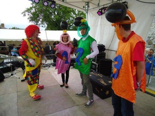 Zézette, Dédé et Casimir lors de la Clown Académy