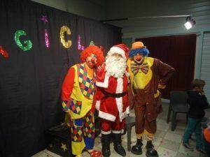 Charly's et Mario avec le père Noël