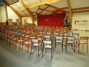 La salle de spectacle est prête