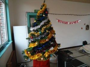 Le sapin de Noël décoré