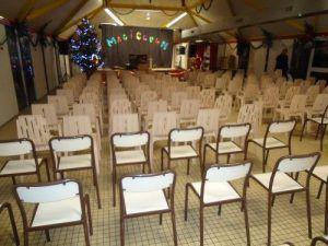 La salle est prête pour le spectacle Magiclown