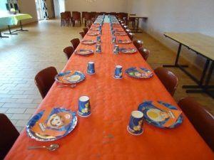 La table pour le goûter des enfants