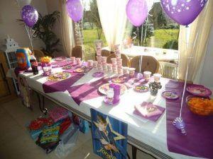 Le buffet pour l'anniversaire de Lola
