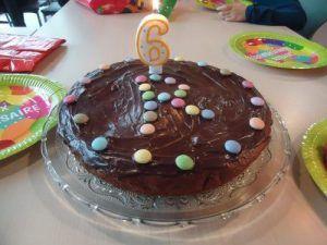 Le gâteau d'anniversaire de Raphael