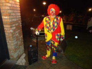 Arrivée de notre clown Charly's chez Mya