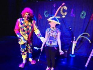 Le clown Charly's avec Inessa la magicienne