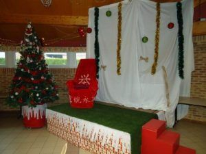 Le podium pour le père Noël