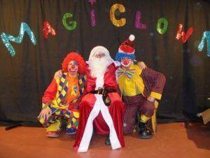 Les clowns Charly's et Mario avec le père Noël