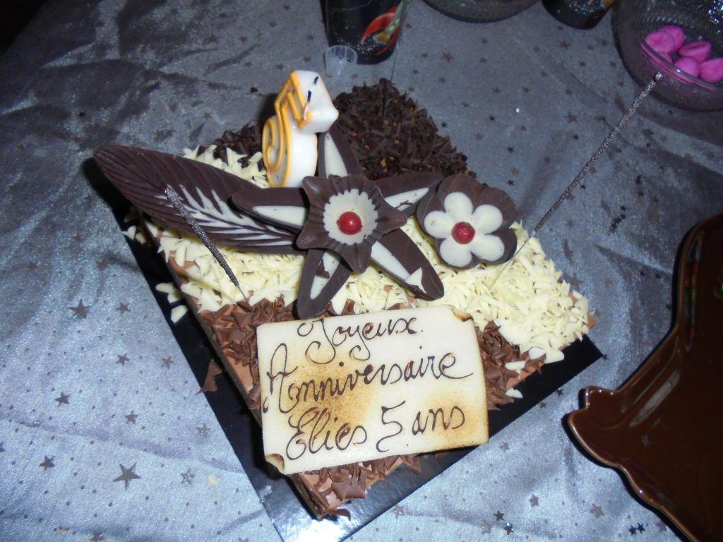 Le gâteau d'anniversaire pour les 5 ans d'Elies