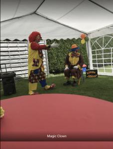 Anniversaire magic clown